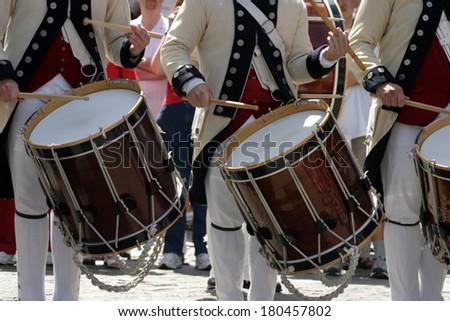 stock image of Independence Day Parade, Boston, USA  - stock photo