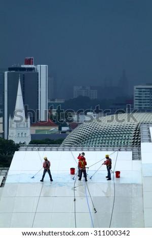 Stock image of Singapore cityscape  - stock photo
