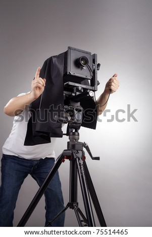 stock image of the large  format cemera