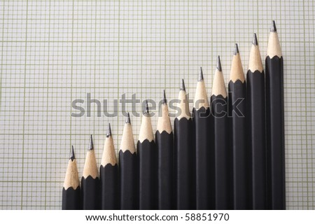 stock image of the pencil arrange in a row - stock photo
