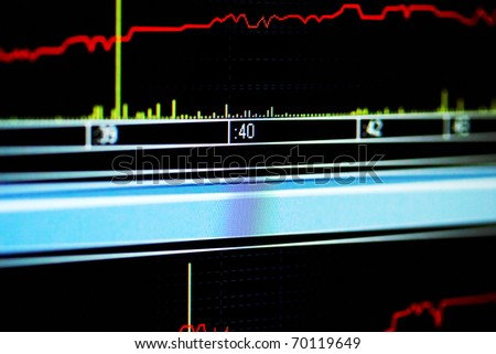 Stock index on the monitor - stock photo
