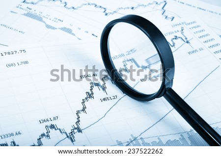 Stock Market Analysis - stock photo