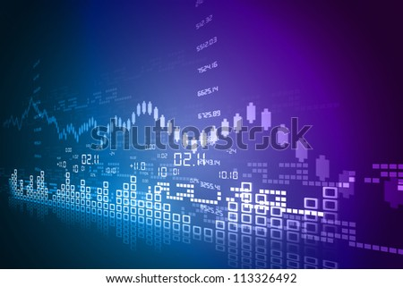Stock Market Chart - stock photo