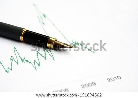 Stock market chart - stock photo