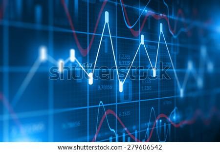 Stock Market Chart  Background - stock photo
