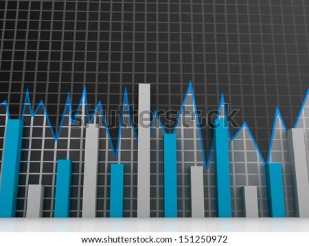 Stock Market chart. Business graph  - stock photo