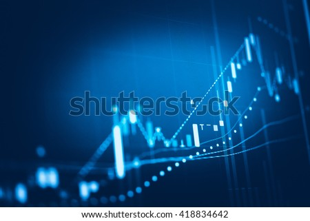 Stock market chart. Business graph background. Forex trading business. - stock photo