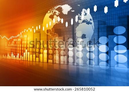 stock market chart , Financial background  - stock photo