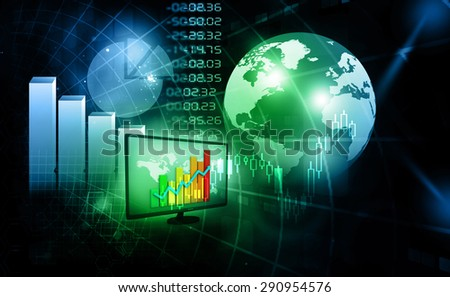 Stock market chart, financial background