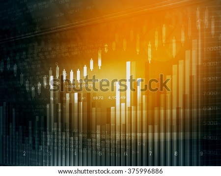 Stock market chart. Financial background  - stock photo