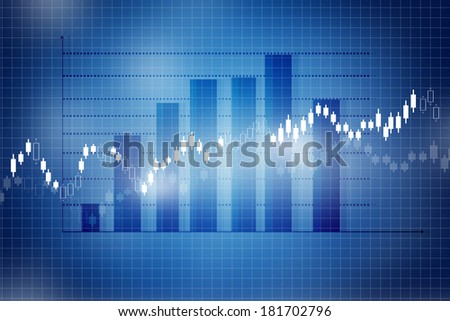 Stock Market Chart, graph	 - stock photo