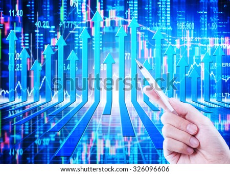 stock market concept and background - stock photo