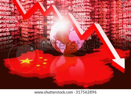 stock market concept ,crisis market - stock photo
