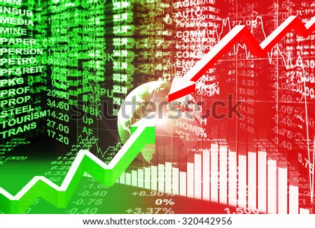 stock market concept , stock exchange - stock photo