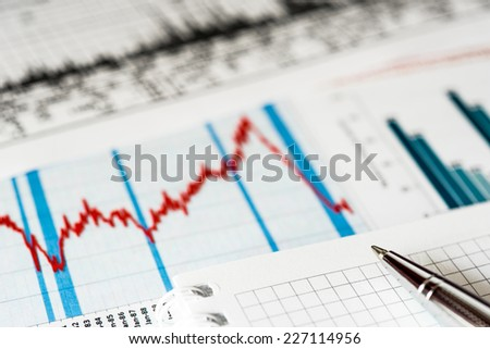 Stock market crash, analysis of the causes of the collapse  - stock photo