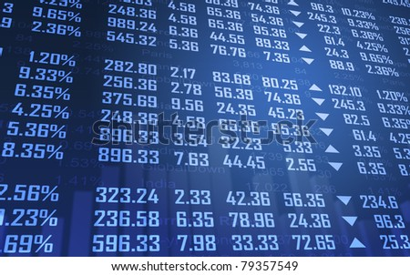 Stock Market Currency Board - stock photo