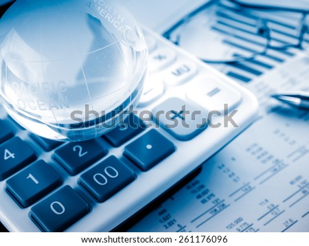 Stock Market Finance Account Report - stock photo