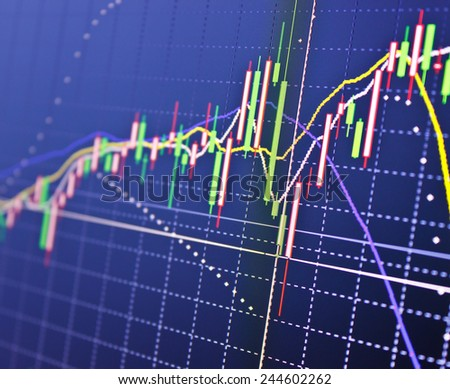 Stock market graphs - stock photo