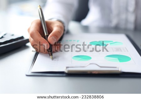 Stock market graphs monitoring  - stock photo