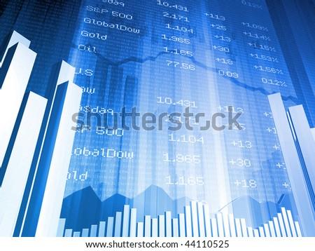 Stock Market Index Small - stock photo