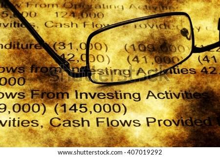 Stock market report grunge concept - stock photo