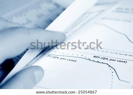 Stock market reports. - stock photo