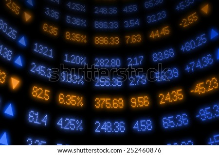 Stock Market Ticker - stock photo