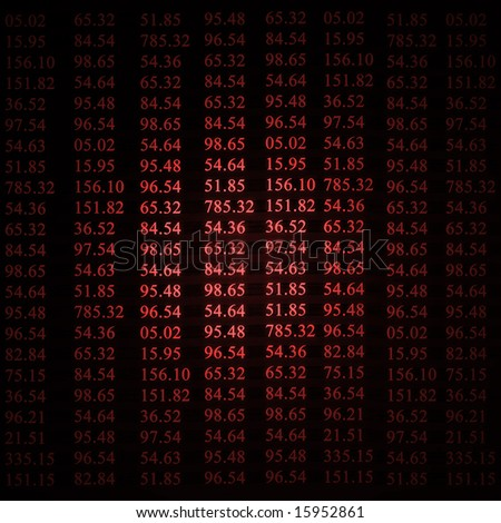 stock numbers on a red background - stock photo