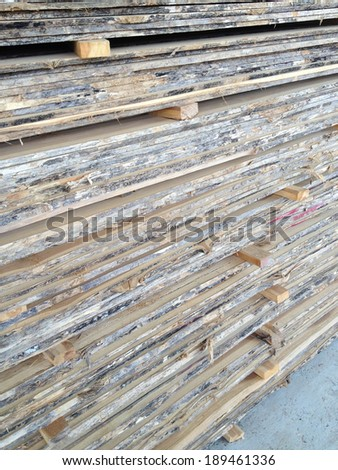 Stock of plank teak wood