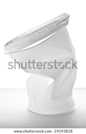 Stock photo: an image of a big white plastic cup - stock photo