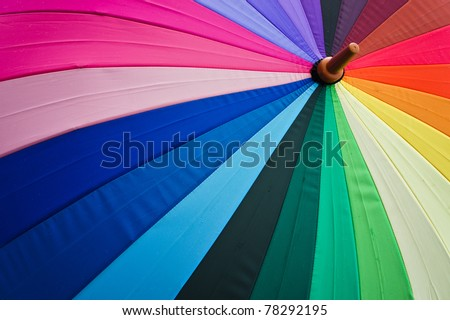 Stock Photo: Color pattern of an umbrella - stock photo