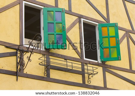 Stock Photo -Colorful design window
