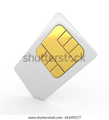 Stock Photo:  3d sim card - stock photo