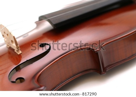 Stock Photo of Isolated Violin