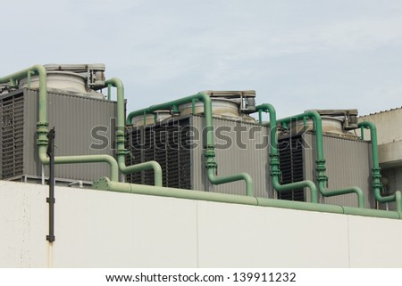 Stock Photo - Outdoor Unit of Air Conditioner - stock photo