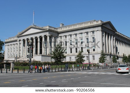 Stock Photo:  The Treasury Department in Washington DC - stock photo