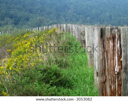 stock picture of poles on the side of the road for traffic