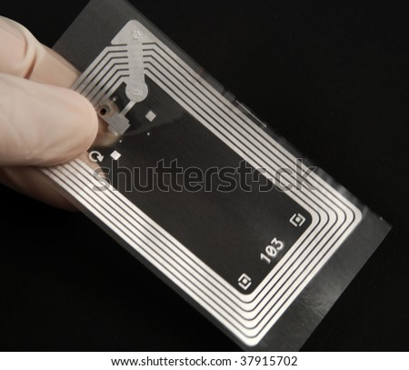 stock picture of wireless tags used for rfid purposes - stock photo