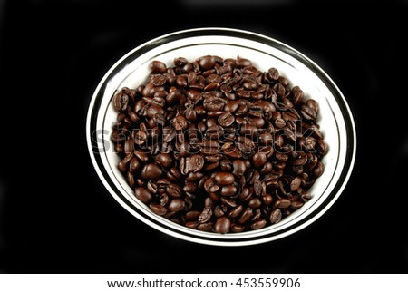 stock pictures of coffee beans ready to be used - stock photo