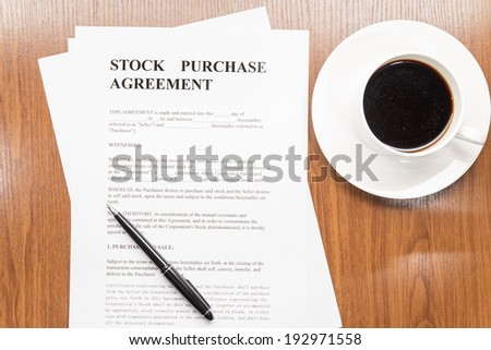 Stock Purchase Agreement Stock Photo   Shutterstock