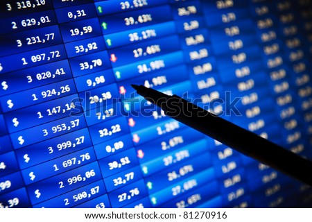 Real Time Stock Quotes Prepossessing Stock Quotes Real Time Stock Exchange Stock Photo 81270916