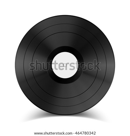 Stock raster illustration vinyl record on a white background