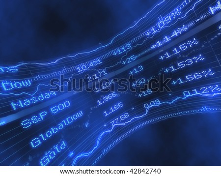 Stock Ticker Abstract - stock photo