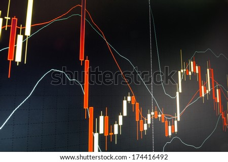 Stock trade live. Online forex data - stock photo