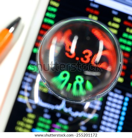 Stock trading on tablet - stock photo