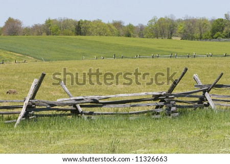 Stockade Fence - stock photo