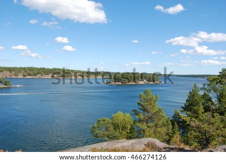 Stockholm archipelago view from Grinda