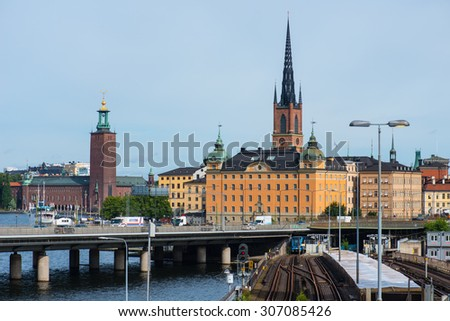 Stockholm, Sweden, Circa July 2015: View over Stockholm city, Sweden