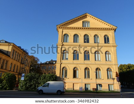 STOCKHOLM, SWEDEN - CIRCA OCTOBER 2015: View over Stockholm city in Sweden, Scandinavia - stock photo