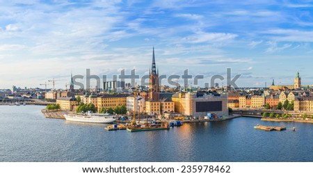STOCKHOLM, SWEDEN - JULY 31: Gamla Stan, the old part of Stockholm, Sweden on July 31, 2014 - stock photo